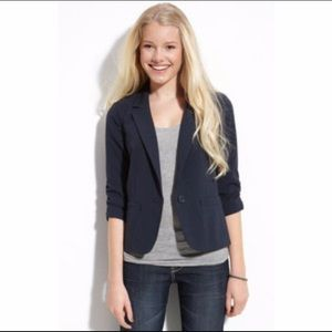 Nordstrom Frenchi Blazer w/ Ruched Sleeves Small